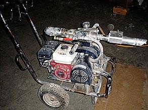 Оборудование безвоздушного нанесения однокомпонентной жидкой резины
