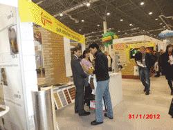 Слева через 5 метров - стенд Технопрок СовТех на выставке СтройСиб 2012