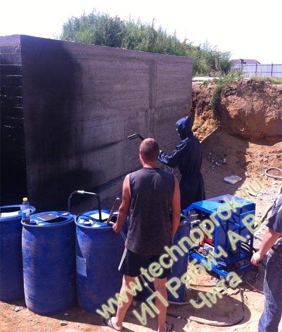 Жидкая резина Чита гидроизоляция фундамента