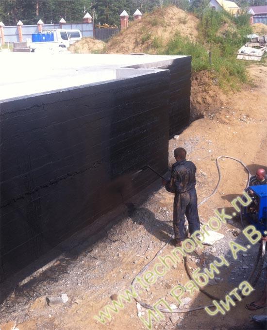 Жидкая гидроизоляция фундамента материалом Технопрок в Чите