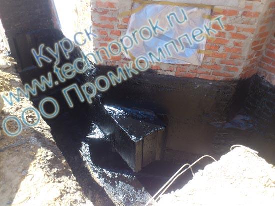 Жидкая резина Технопрок в Курске гидроизоляция фундаментной стены