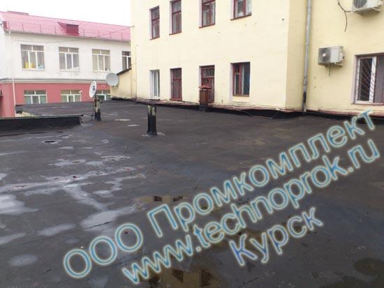Бесшовная гидроизоляция жидкая резина Технопрок на крыше в Курске