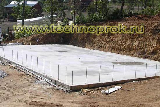 Устройство цементно-песчаной стяжки по гидроизоляции