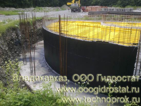 ООО Гидростат выполнит гидроизоляцию жидкой резиной Технопрок во Владикавказе