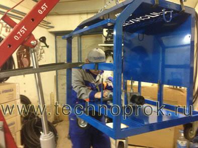 Сборка оборудования Технопрок Б-21 для нанесения жидкой резины