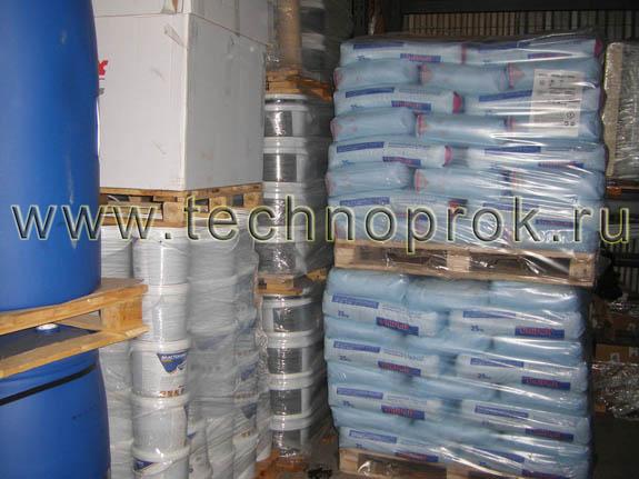Кальций хлористый и различные виды жидкой резины на центральном складе Технопрок