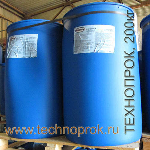 Жидкая резина Технопрок в бочках 200кг на складе
