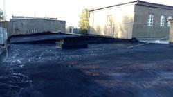 На фото ООО Универсал показана бесшовная гидроизоляция крыши жидкой резиной Технопрок